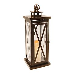 LumaBase Metal Lantern & LED Candle 2-piece Set