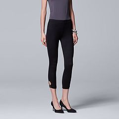 Simply Vera Vera Wang Keyhole Ring Skimmer Stretch Leggings