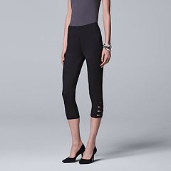 Simply Vera Vera Wang Side Strap Cutout Capri Leggings