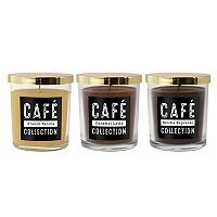 LumaBase Coffee Collection 11-oz. Candle Jar 3 pc Set