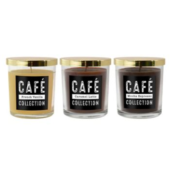 LumaBase Coffee Collection 11-oz. Candle Jar 3-piece Set