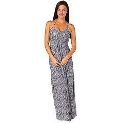 Women's Soybu Dhara Halter Yoga Maxi Dress