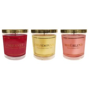 LumaBase Wine Collection 3-oz. Candle Jar 6-piece Set