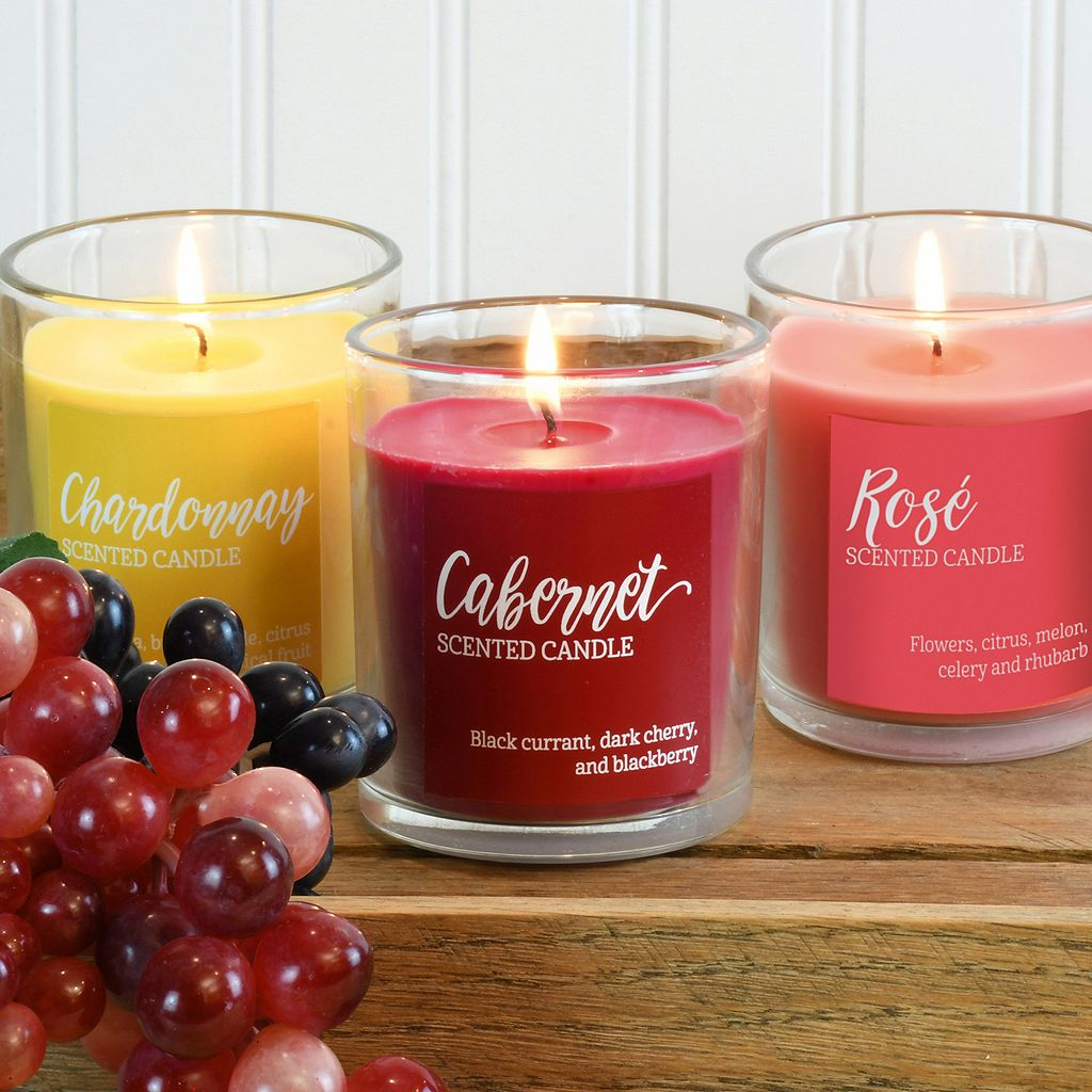 LumaBase Wine Collection 3-oz. Candle Jar 6-piece Set