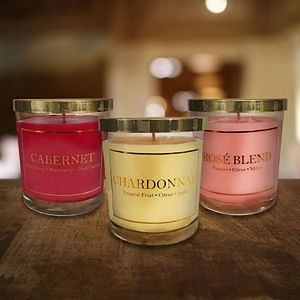 LumaBase Wine Collection 3-oz. Candle 6-piece Set