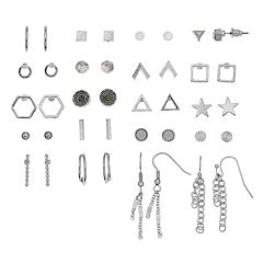Mudd® Star, Chain Tassel & Geometric Nickel Free Earring Set