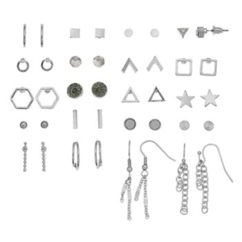 Mudd® Star, Chain Tassel & Geometric Nickel Free Earring Set