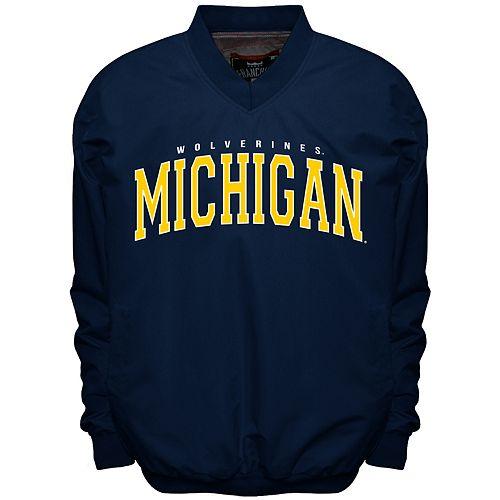 Men's Franchise Club Michigan Wolverines Members Windbreaker Pullover