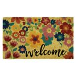 "Mohawk® Home Summer Floral ""Welcome"" Coir Doormat - 18"" x 30"""