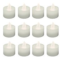 LumaBase Warm White LED Tealight Candle 12 pc Set