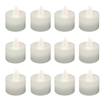 LumaBase Warm White LED Tealight Candle 12-piece Set