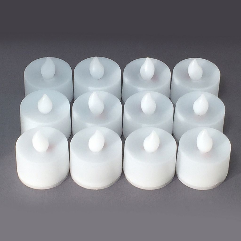 LumaBase Warm White LED Tealight Candle 12-piece Set
