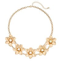 Mudd® Matte Flower Statement Necklace