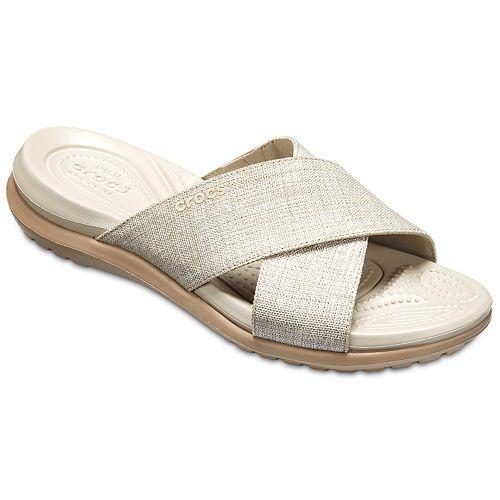e83d586fc Crocs Capri Shimmer Women s Slide Sandals