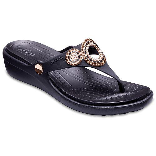 cd31ac9436a8 Crocs Sanrah Diamante Women s Wedge Sandals