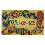 "Mohawk® Home Flip Flops ""Welcome"" Coir Doormat - 18"" x 30"""