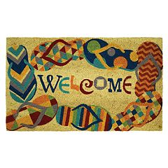 Mohawk® Home Flip Flops 'Welcome' Coir Doormat - 18' x 30'