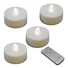 LumaBase White LED Tealight Candle & Remote Control 5-piece Set