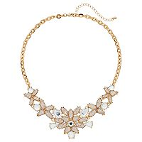 Mudd® Teardrop Flower Statement Necklace