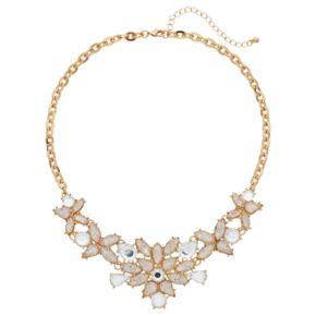 Mudd® Teardrop Flower Statement Necklace