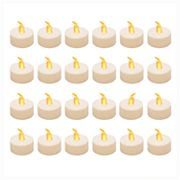 LumaBase Amber LED Tealight Candle 24 pc Set