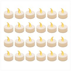 LumaBase Amber LED Tealight Candle 24-piece Set