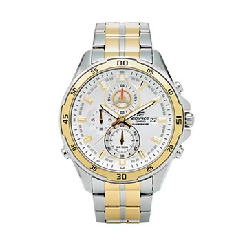 Casio Men's EDIFICE Two Tone Stainless Steel Chronograph Watch - EFR547SG-7A9V