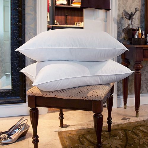 Downlite White Goose Feather 2 Pack Pillow
