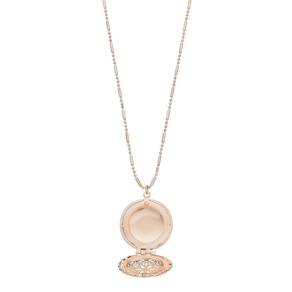 Mudd® Filigree Locket Layered Choker Necklace