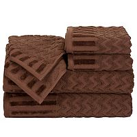 Portsmouth Home Chevron 6-piece Bath Towel Set