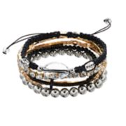 Mudd® Cross, Beaded & Woven Bracelet Set