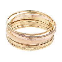 Mudd® Textured Bangle Bracelet Set