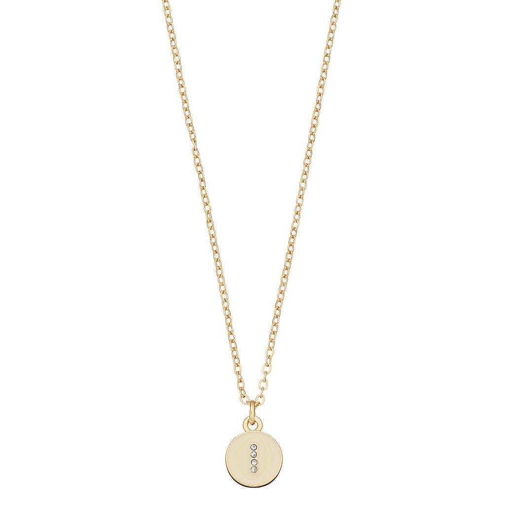 LC Lauren Conrad Monogram Number Pendant Necklace