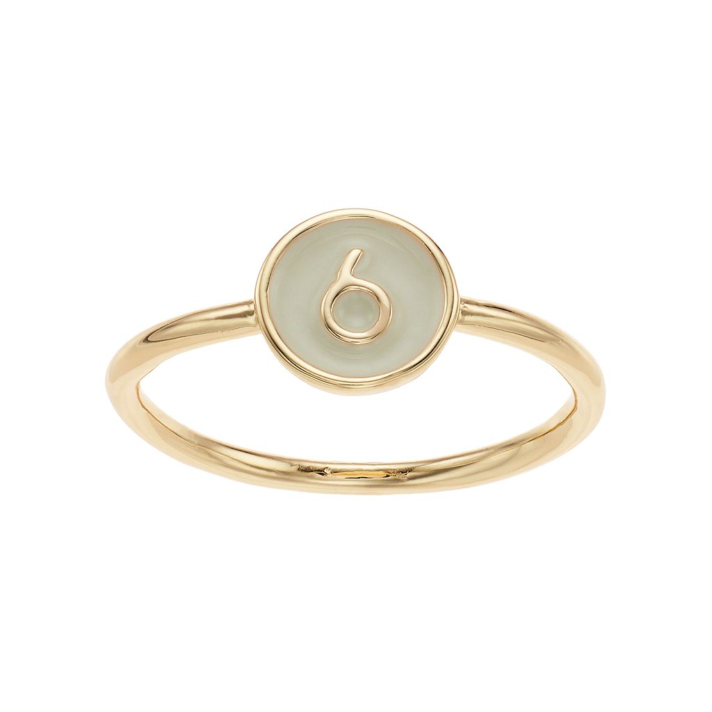 LC Lauren Conrad Monogram Number Ring