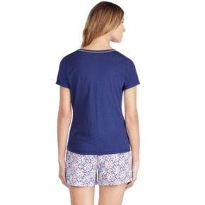 Women's Jockey Pajamas: Short Sleeve Tee & Boxer Shorts 2-Piece PJ Set