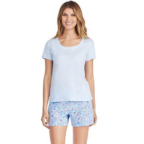 b46c7ec23 Women's Jockey Pajamas: Short Sleeve Sleep Tee & Boxer Sleep Shorts 2-Piece  PJ Set
