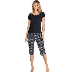 Women's Jockey Pajamas: Short Sleeve Tee & Skimmer Capris 2-Piece PJ Set
