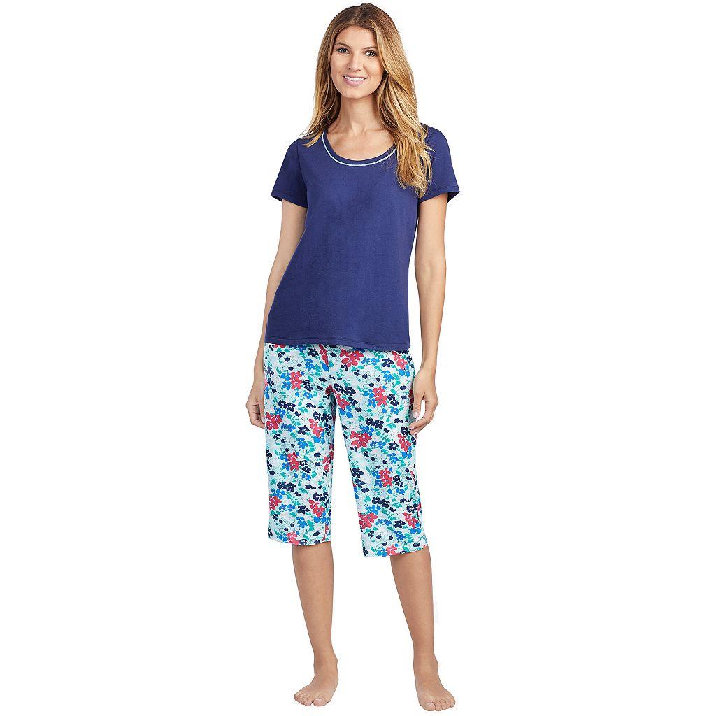Women's Jockey Pajamas: Short Sleeve Tee & Skimmer Capris 2-Piece PJ Set