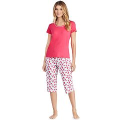Women's Jockey Pajamas: Short Sleeve Tee & Skimmer Capris 2 pc PJ Set