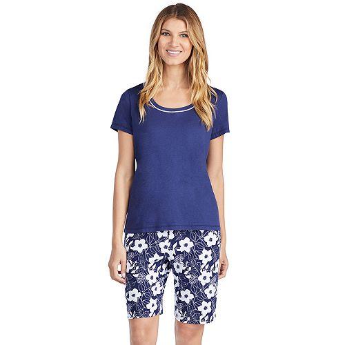 3957cca36 Women's Jockey Pajamas: Short Sleeve Sleep Tee & Bermuda Sleep Shorts 2-Piece  PJ Set