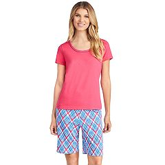 Women's Jockey Pajamas: Short Sleeve Tee & Bermuda Shorts 2 pc PJ Set