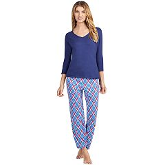 Women's Jockey Pajamas: V-Neck Top & Pants 2-Piece PJ Set