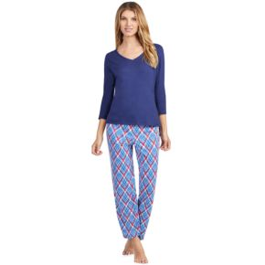 Women's Jockey Pajamas: V-Neck Top & Pants 2-Piece PJ Set