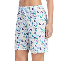Women's Jockey Pajamas: Butterfly Graphic Bermuda Shorts