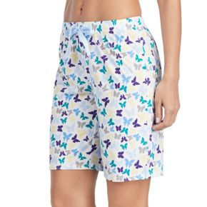 Women's Jockey Pajamas: Butterfly Graphic Bermuda Shorts