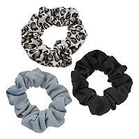 Mudd® Leopard Scrunchie Hair Tie Set