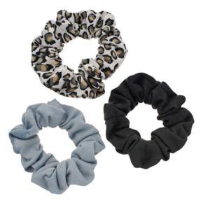 Mudd® Leopard Scrunchie Hair Tie Set
