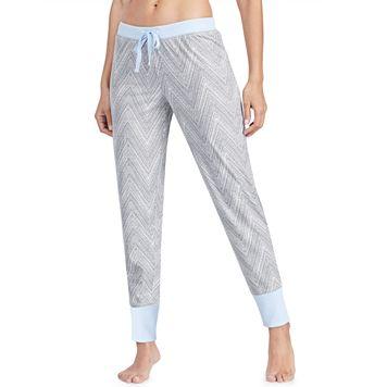 Women's Jockey Pajamas: Chevron Print Jogger Pants