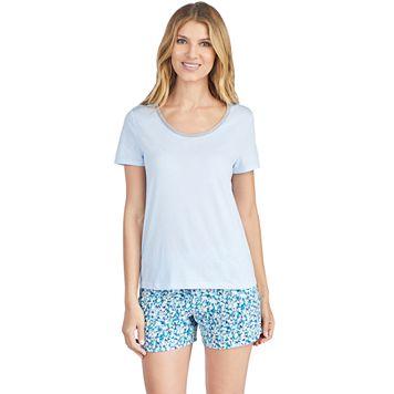 Women's Jockey Pajamas: Keyhole Short Sleeve Tee