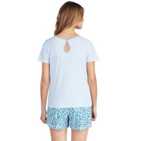 Women's Jockey Pajamas: Keyhole Short Sleeve Tee
